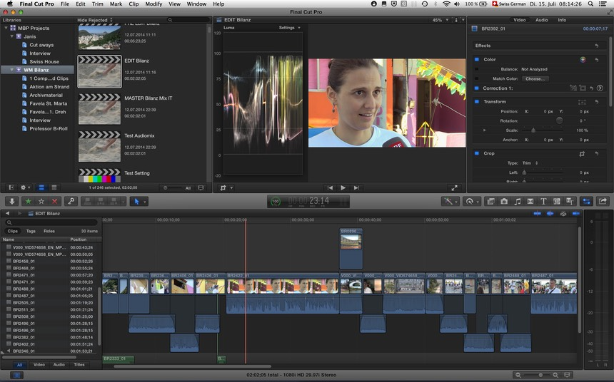 screen shot fcpx